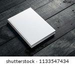 white book mockup on dark... | Shutterstock . vector #1133547434