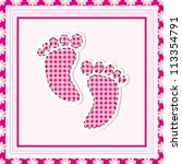 Simple  Baby Arrival Card With...