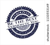 blue be the best version of you ... | Shutterstock .eps vector #1133553149