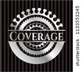 coverage silvery shiny emblem | Shutterstock .eps vector #1133553245