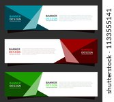 modern web header template with ... | Shutterstock .eps vector #1133555141