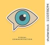 visual communication sticker.... | Shutterstock .eps vector #1133558294