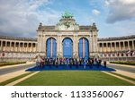 brussels  belgium   jul 11 ...   Shutterstock . vector #1133560067
