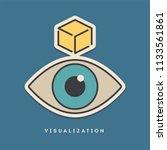 visualization sticker. thin... | Shutterstock .eps vector #1133561861