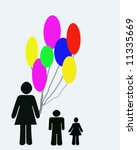 family with balloons | Shutterstock . vector #11335669