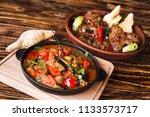apetitic and beautiful georgian ... | Shutterstock . vector #1133573717