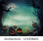 halloween design   forest... | Shutterstock . vector #113358601