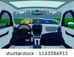 view of the road from the car... | Shutterstock .eps vector #1133586911