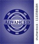 advanced emblem with jean high... | Shutterstock .eps vector #1133588684