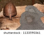 replica of a medieval warrior... | Shutterstock . vector #1133590361
