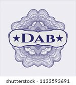 blue money style rosette with... | Shutterstock .eps vector #1133593691
