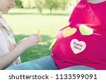 close up of cute little girl...   Shutterstock . vector #1133599091