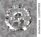 stereo grey camouflage emblem | Shutterstock .eps vector #1133599505