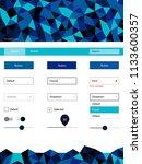 dark blue  green vector web ui...