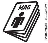 icon pictogram  magazine ... | Shutterstock .eps vector #1133604395