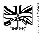 united kingdom flag and crown... | Shutterstock .eps vector #1133604431