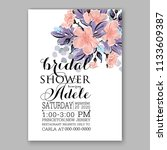 floral wedding invitation... | Shutterstock .eps vector #1133609387