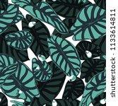 seamless tropical pattern.... | Shutterstock .eps vector #1133614811
