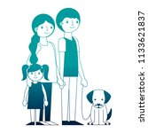 family parents mom dad and... | Shutterstock .eps vector #1133621837