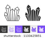 diamond crystal black linear... | Shutterstock .eps vector #1133625851