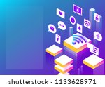 connection  internet and social ... | Shutterstock .eps vector #1133628971