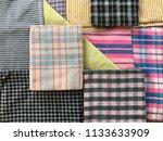 traditional fabrics local hand...   Shutterstock . vector #1133633909