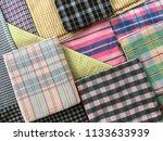 traditional fabrics local hand...   Shutterstock . vector #1133633939