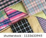 traditional fabrics local hand...   Shutterstock . vector #1133633945