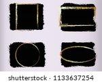 set of black paint  brush... | Shutterstock .eps vector #1133637254