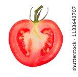 tomato isolated on white... | Shutterstock . vector #1133643707