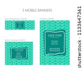three banners for mobile phone. ... | Shutterstock .eps vector #1133647361