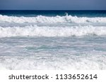 crashing wild high waves on... | Shutterstock . vector #1133652614