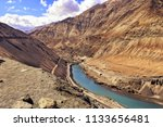 aerial view of zanskar mountain ... | Shutterstock . vector #1133656481