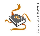 big book  holy bible  ribbons ... | Shutterstock .eps vector #1133657714