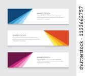 modern banner design vector... | Shutterstock .eps vector #1133662757