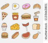 food illustration with icon ... | Shutterstock .eps vector #1133663801