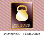 gold shiny emblem with... | Shutterstock .eps vector #1133670035
