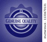 genuine quality badge with... | Shutterstock .eps vector #1133670131
