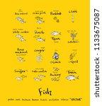 sea food illustrations   hand...   Shutterstock .eps vector #1133675087