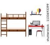student dorm room | Shutterstock .eps vector #1133693399
