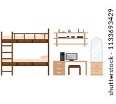 student dorm room | Shutterstock .eps vector #1133693429