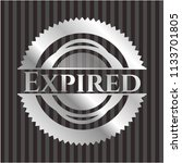 expired silvery emblem | Shutterstock .eps vector #1133701805