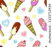 vector illustration of ice... | Shutterstock .eps vector #1133713934