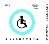 wheelchair handicap icon | Shutterstock .eps vector #1133715371