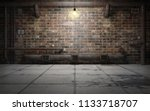old grunge basement room with... | Shutterstock . vector #1133718707