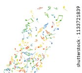 musical signs. modern... | Shutterstock .eps vector #1133721839