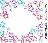 colorful stars confetti ... | Shutterstock .eps vector #1133722799