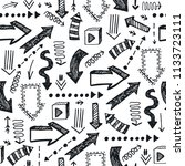 vector seamless hand drawn... | Shutterstock .eps vector #1133723111