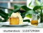 consists of bread topped almond ... | Shutterstock . vector #1133729084