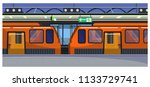 trains at railway station... | Shutterstock .eps vector #1133729741